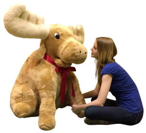 American Made Giant Stuffed Moose Soft Huge Stuffed Animal 45 Inches