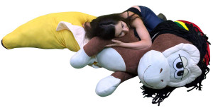 Giant 6 Foot Stuffed Banana Monkey Pillow Huge Soft 72 Inch Big Plush Snuggle Buddy