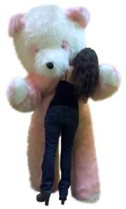 American Made Big Plush 96 Inch Giant Stuffed Pink and White Panda Bear 8 Foot Made in USA