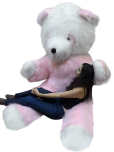 American Made Big Plush Giant Stuffed 8 Foot Pink Panda Bear 96 Inch 40 Pound Teddybear Made in USA