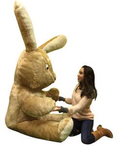 American Made Giant Stuffed Brown Bunny 7 Feet Tall Big Plush Rabbit Made in USA