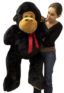 Big Stuffed Monkey 4 Feet Tall Soft Large Black Plush Animal 48 Inches New