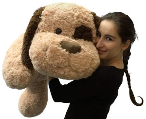 Giant Stuffed Dog 36 Inch Big Plush Soft Brown Oversized Stuffed Animal