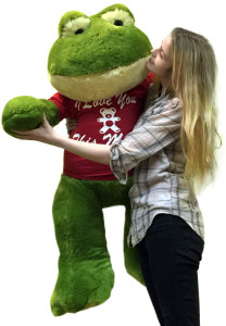 Giant Stuffed Frog 48 Inches Soft 4 Feet Tall I Love You This Much