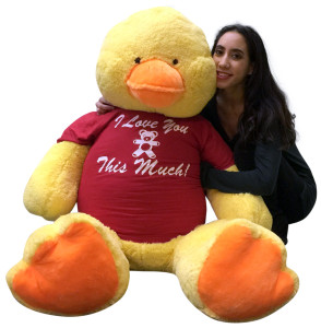 Giant Stuffed Duck 60 Inches Soft 5 Foot Big Plush I Love You This Much