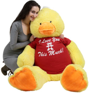 Giant Stuffed Duck 48 Inches Soft 4 Foot Big Plush I Love You This Much