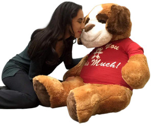 Giant Stuffed Saint Bernard 48 Inch Soft 4 Foot Plush Dog I Love You This Much
