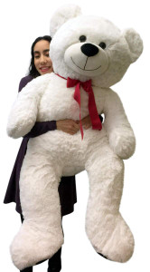 Giant Teddy Bear 52 Inch White Soft, Premium Quality Big 4 foot  Teddybear
