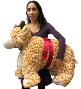 Giant Stuffed Giraffe Pillow Plush, 40 Inch Extra Huge Squishy Soft Animal Toy New