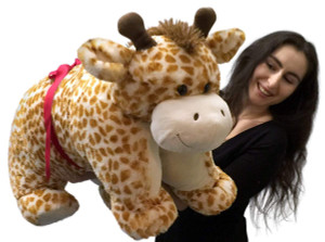 Giant Stuffed Giraffe Pillow Plush, 40 Inch Extra Huge Squishy Soft Animal Toy New