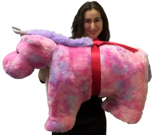Giant Stuffed Unicorn Pillow Plush, 40 Inch Extra Huge Squishy Soft Animal Toy New