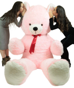 8 Foot Enormous Pink Teddy Bear New Soft Made in USA 96 Inch, Ships in Huge Box