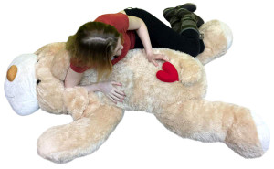 Big Plush 5 Foot Dog New Soft 60 Inch, Red Heart on Butt Display of Love