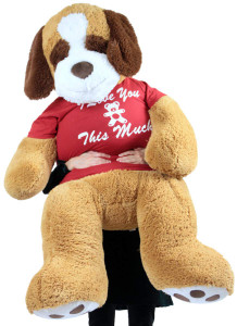 Giant Stuffed Saint Bernard 60 Inches Soft 5 Feet Tall Plush Dog I Love You This Much