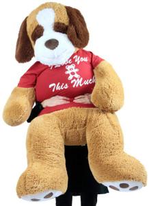 Giant Stuffed Saint Bernard 60 Inches Soft 5 Feet Tall Plush Dog I Love You This Much