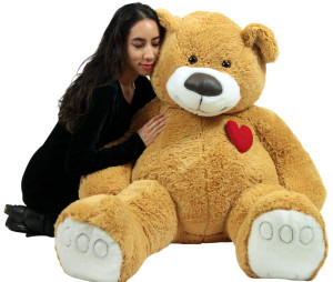 Giant Teddy Bear 57 Inch Soft Huge Plush Animal, Heart on Chest to Express Love