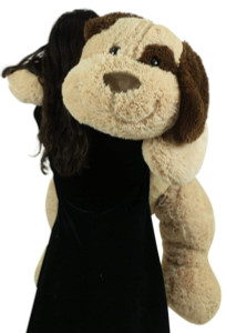 Extra Large Stuffed Puppy Dog 48 Inch Big Plush Soft 4 Foot Stuffed Animal