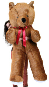 American Made 6 Foot Brown Teddy Bear Soft Huge Giant Teddybear 72 Inch, Weighs 20 Pounds