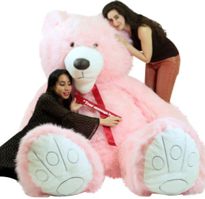 American Made Giant 9 Foot Teddy Bear Soft 108 Inches Pink Made in USA