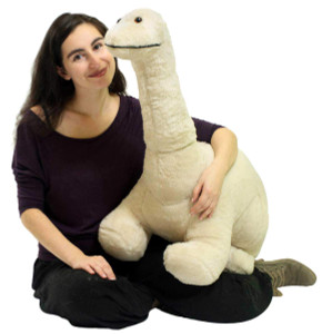 American Made Big Plush Junior Dinosaur Soft Stuffed Brontosaurus 3 Feet Long 2 Feet Tall Made in USA