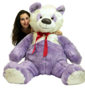 American Made Giant Stuffed Purple Panda Bear 60 Inch Soft 5 Foot Teddybear Made in USA