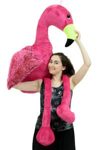 Giant 6 Foot Stuffed Pink Flamingo, 72 Inch Soft Life Size Big Plush Tropical Bird