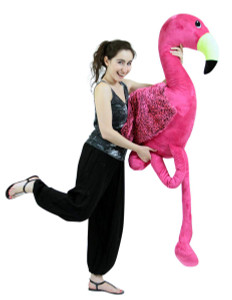 Giant 6 Foot Stuffed Pink Flamingo, 72 Inch Soft Life Size Big Plush Tropical Bird