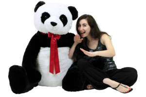 Life Size Stuffed Panda, Soft Big Plush Bear, 3 Feet Tall and 3 Feet Wide
