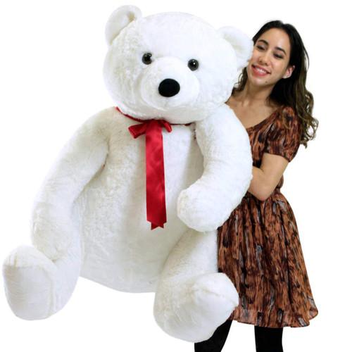 Life Size Stuffed White Teddy Bear Soft Big Plush Animal 3 Feet