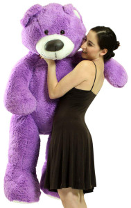 5 Foot Super Soft Purple Teddy Bear Big Plush 60 Inch Large Stuffed Animal Made in USA