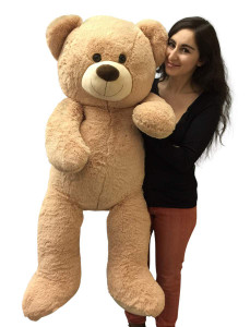 Big Plush 4 Foot Teddy Bear Extra Soft 48 inch Beige Tan Jumbo Stuffed Animal