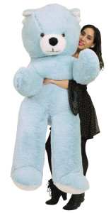 American Made 6 Foot Giant Blue Teddy Bear Soft 72 Inch Life Sized Stuffed Animal