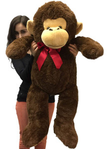 Big Plush 3 Foot Stuffed Monkey Extra Soft 36 inch Brown Jumbo Stuffed Animal