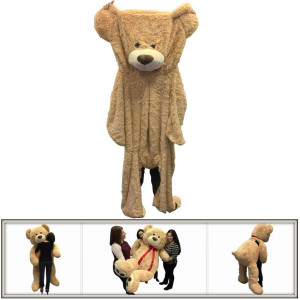 "72"" (6 Feet) Giant Teddy Bear Cover Tan ( Semi-Finished, Un-stuffed Skin, No Stuffing, Only Outer Shell with Zipper) 183 cm"