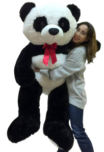 5 Foot Giant Stuffed Panda Soft 60 Inch Big Plush Premium Teddy Bear