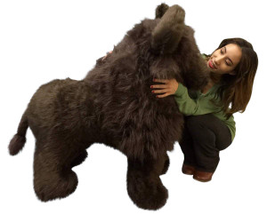 American Made Giant Stuffed Dark Brown Buffalo 44 Inch Soft Huge Big Plush Animal
