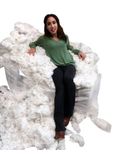 Big Plush 8 Ounces Sample Pack Extra Dense Thick Heavy Duty Polyester Fiber White Fiberfill Stuffing, Extremely Dense and Extra Thick Heavyweight Blend