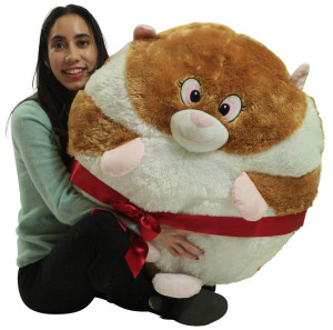 Big Plush Hamster Smush Ball Soft 24 Inch Large Stuffed Hamster