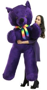 American Made 6 Foot Giant Purple Teddy Bear Soft 72 Inch Life Sized Stuffed Animal