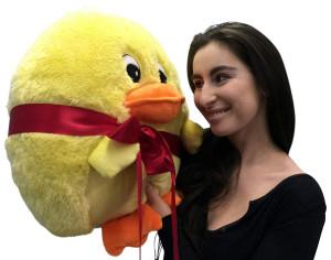 Big Plush Yellow Duck Smush Ball Soft 20 Inch Soft Stuffed Duckie