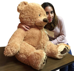 Big Plush 3 Foot Teddy Bear 36 Inches Soft Brown Plushie with Big Foot Paws