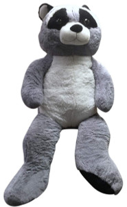 5 Foot Giant Stuffed Raccoon Soft 60 Inch Big Plush Premium Lifesized Stuffed Animal