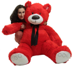 Giant Valentine Red Teddy Bear, Big Plush Soft Stuffed Animal Made in America
