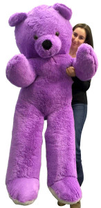 Big Plush 6 Foot Giant Purple Teddy Bear Soft 72 Inch Life Sized Stuffed Animal Made in USA