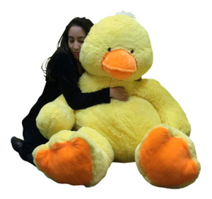 Big Stuffed Duck 48 Inches Soft 4 Foot Giant Stuffed Yellow Ducky