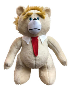 Trump Teddy Bear Presidential Size 30 Inches Giant Stuffed Plushie Made in the USA (Tan Color)