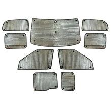 Fiat Doblo Maxi 2nd Gen Pre-Facelift (Barn Doors) (2010-2015) Thermal Reflective Blinds (9 Piece)