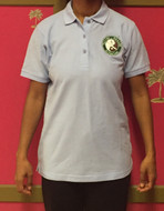 Blue Polo Shirt with Logo - LADIES (Fitted)
