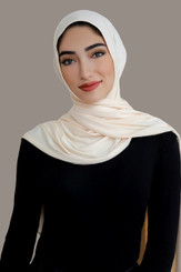 Plain Beige Jersey Hijab
