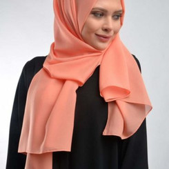 Orange Chiffon Hijab